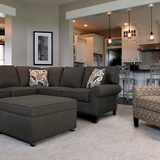 Transitional Family Room by Webster Interiors Home Furnishings and Design