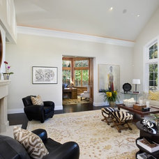 Eclectic Family Room by James Witt Homes