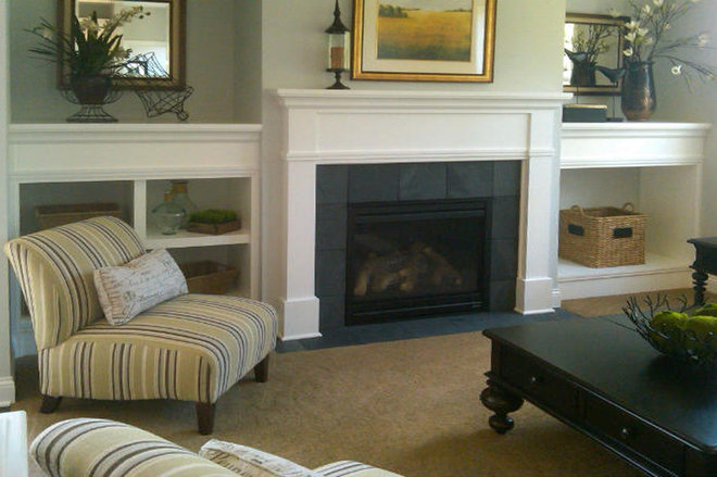 Traditional Family Room Homes By Tradition Fireplace