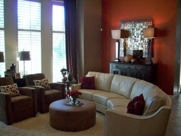 Contemporary Family Room by C-renee Designs