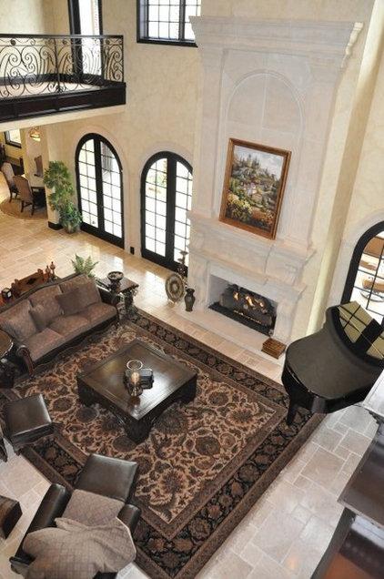 Mediterranean Family Room by Cornell Custom Homes, Inc