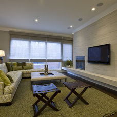 Transitional Family Room by Michael Abrams Limited