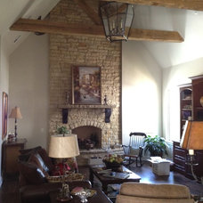 Traditional Family Room by Cornerstone Homes by Chris Moock, LLC
