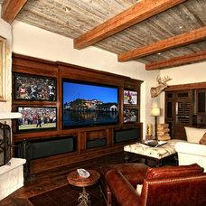 Mediterranean Family Room by Zbranek & Holt Custom Homes