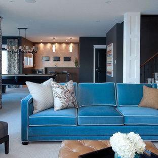 Ispirazione per un soggiorno contemporaneo con sala giochi