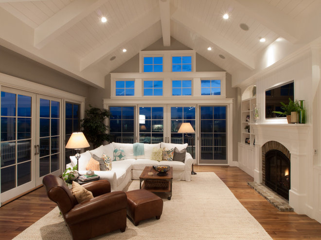 Traditional Family Room by Godden Sudik Architects Inc