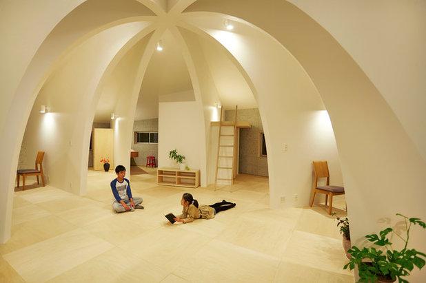 コンテンポラリー ファミリールーム by 篠崎弘之建築設計事務所