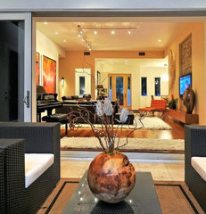 modern family room House on Bonita Court Sarasota FL