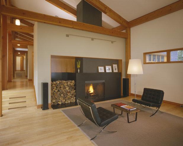Contemporáneo Sala de estar by Elliott + Elliott Architecture