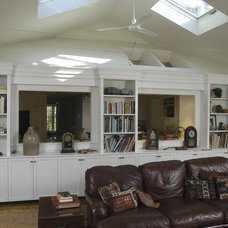Traditional Family Room by Joseph B Lanza Design + Building