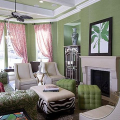 eclectic family room by CIH Design