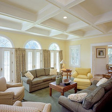 Traditional Family Room by Finecraft Contractors, Inc.