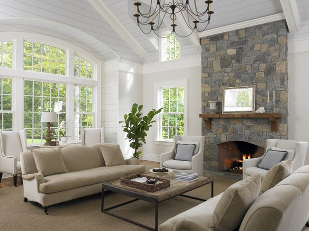 Traditional Family & Games Room by Huestis Tucker Architects, LLC