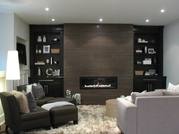 Contemporary Family Room by Stacy McLennan Interiors