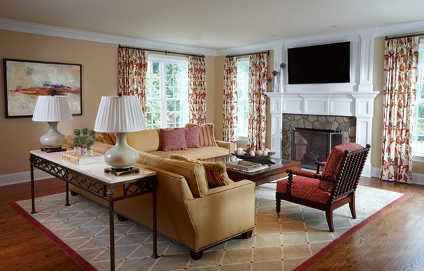 Traditional Family Room by Connie Cooper Designs