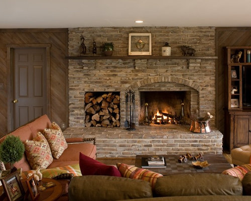 SaveEmail - Fireplace Wood Storage Ideas, Pictures, Remodel And Decor
