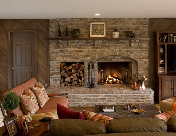 Traditional Family Room by Cabin John Builders