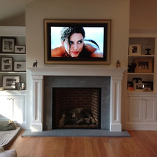 Traditional Family Room by Long Island Mantel/Island ArtScreen
