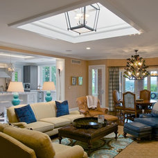 Transitional Family Room by J. Hensley Services LLC