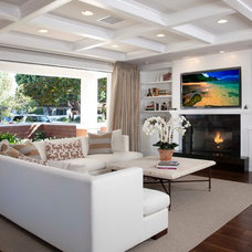 Contemporary Family Room by Christian Rice Architects, Inc.