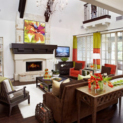 traditional family room by IBB Design Fine Furnishings