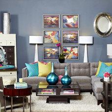 Modern Family Room by IBB Design Fine Furnishings