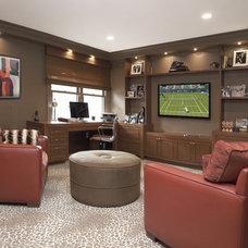 Contemporary Family Room by Patricia Bonis Interiors, Inc.