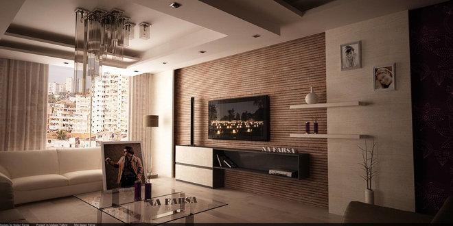 Modern Family Room by Na Farsa