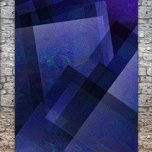 Indigo Abstract Wall Art