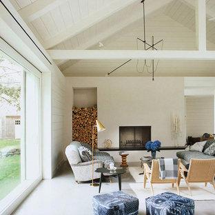 Ispirazione per un soggiorno eclettico stile loft