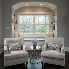 Transitional Family Room by Savvy Interior Design