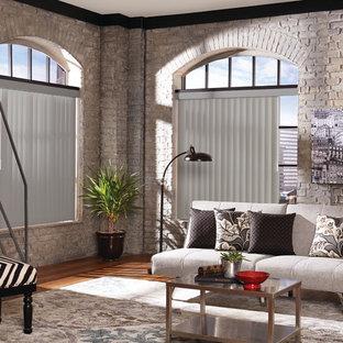 Foto de sala de estar tipo loft, urbana, pequeña