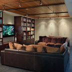 Reclaimed Carriage House Doors Eclectic Family Room