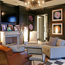 Eclectic Family Room by Barbara Brown Photography