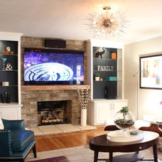 Modern Family Room by Haute Chic Home, ASID Allied Member