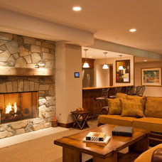 Traditional Family Room by Pegasus Design Group, Inc.