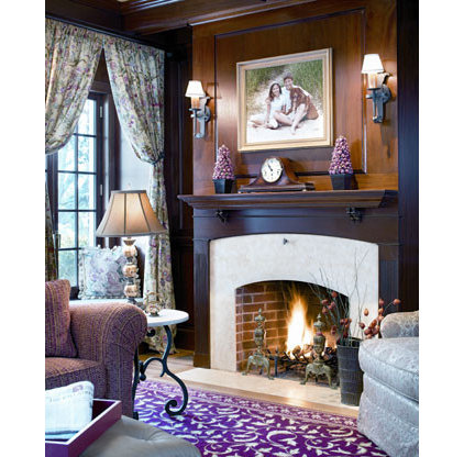 Traditional Family Room by Camille Garro Interiors