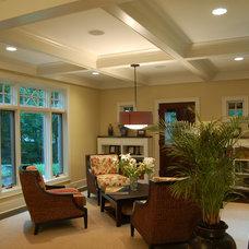 Eclectic Family Room by Hibler Design Studio
