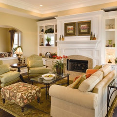 traditional family room by Wedgewood Building Co.