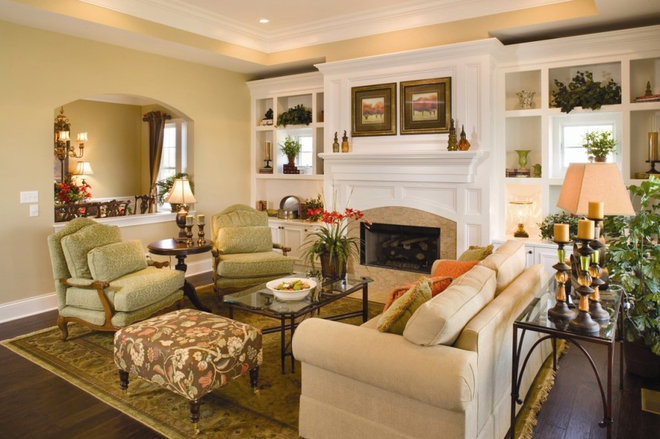 Traditional Family Room Interior