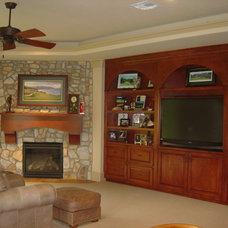 Mediterranean Family Room by Gabay Custom Builders, INC