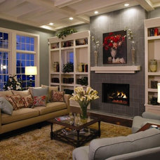Eclectic Family Room by Wedgewood Building Company