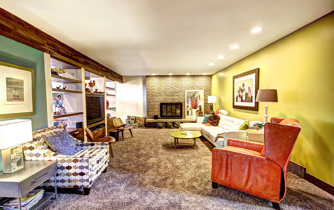Eclectic Family Room by Photos By Kaity
