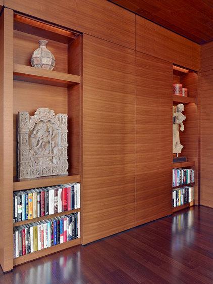 Asian Family Room by Zack|de Vito Architecture + Construction