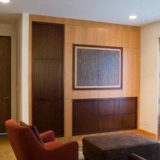 Contemporary Family Room by Dorman Associates, Inc.