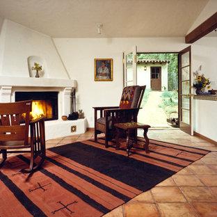 Interior with new garage beyond