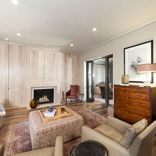 Transitional Family Room by Advanced Renovations, Inc.
