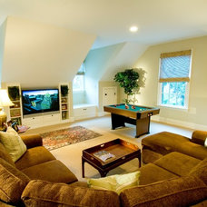 Contemporary Family Room by Advanced Renovations, Inc.