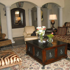 Mediterranean Family Room by Interiors by Sherry, Sherry Smith
