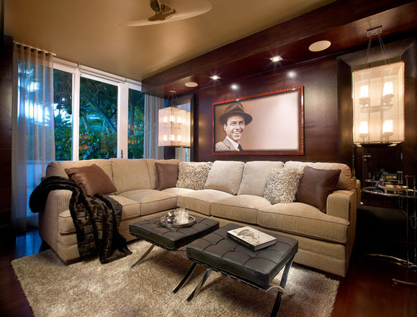Asian Family Room by Interiors by Steven G